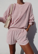 araminta james dusty rose terry long sleeve set dusty rose