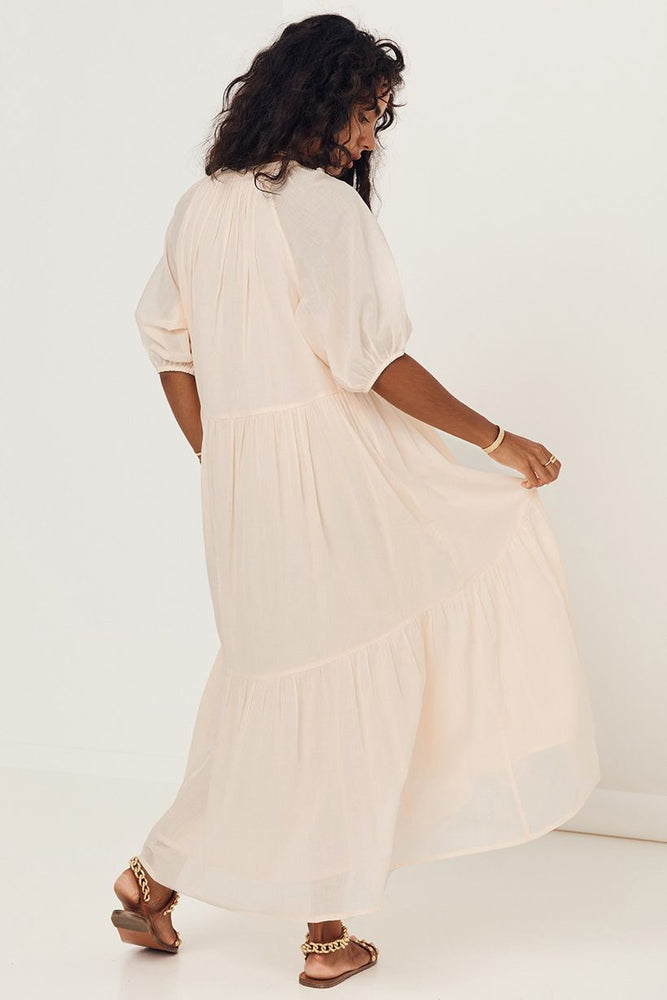 spell honey smock dress peach