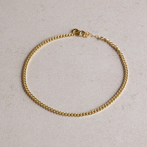 jl fine everyday anklet gold