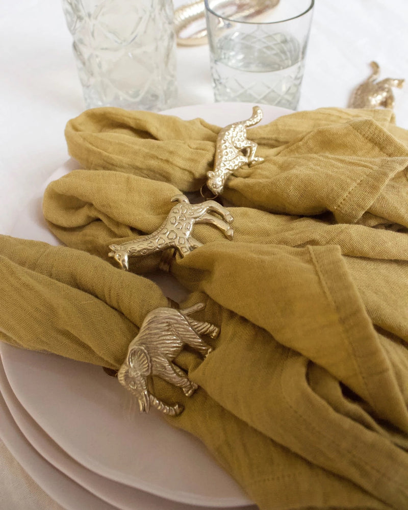 a la napkin set of two mustard