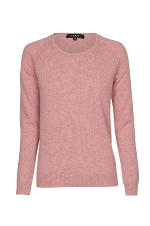cable pure cashmere crew jumper musk marle