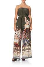camilla watchful wings strapless jumpsuit with d-ring belt