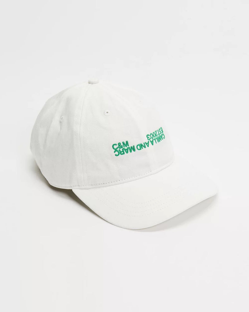 c&m jordan cap warm white with emerald
