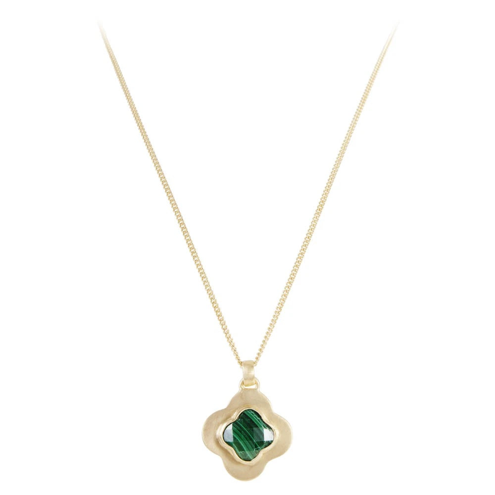 fairley malachite clover necklace