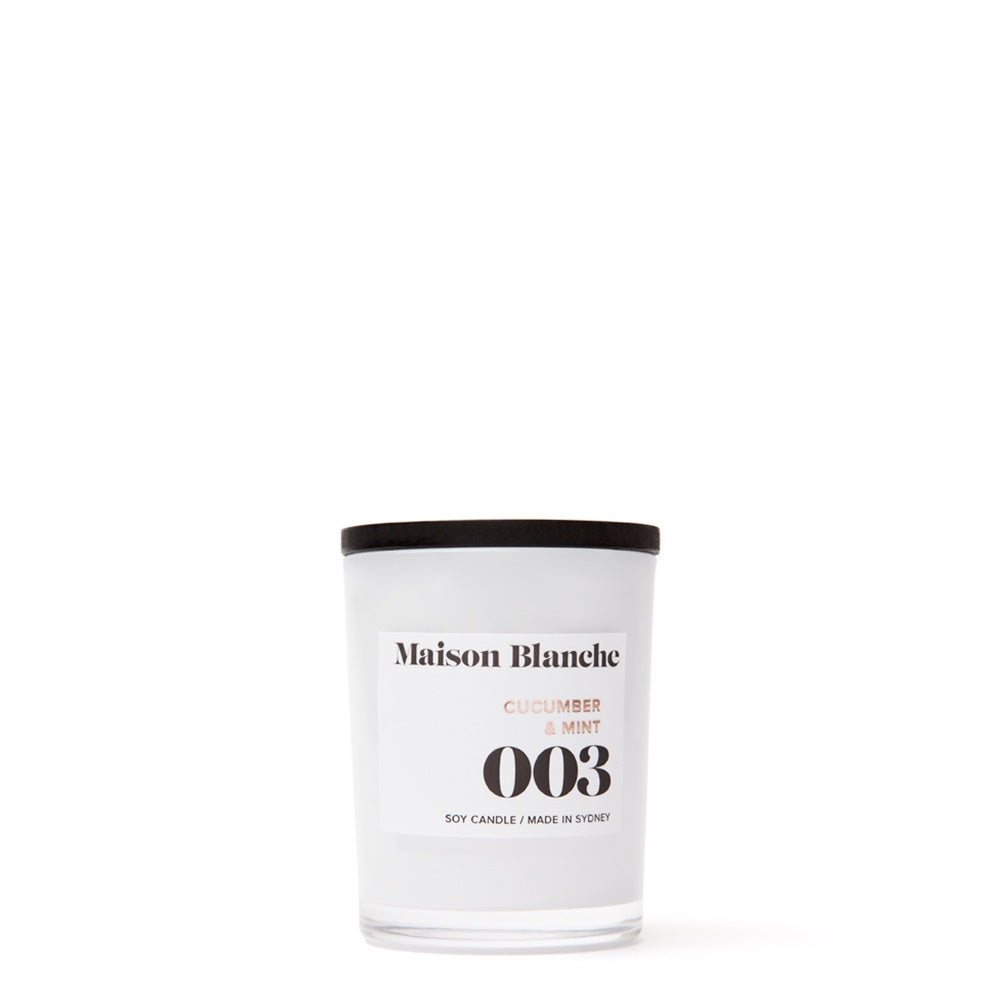 maison blanche cucumber and mint candle small