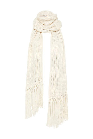 spell heather knit scarf cream