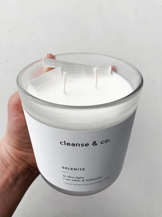 cleanse and co selenite candle