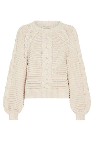 spell brunch cable knit jumper sand