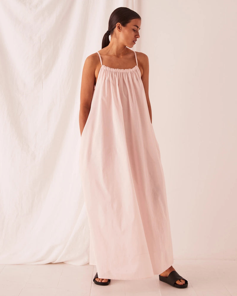 assembly label voile maxi dress pink dew