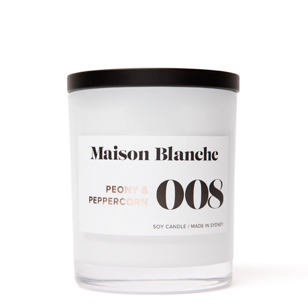 maison blanche peony and peppercorn candle large