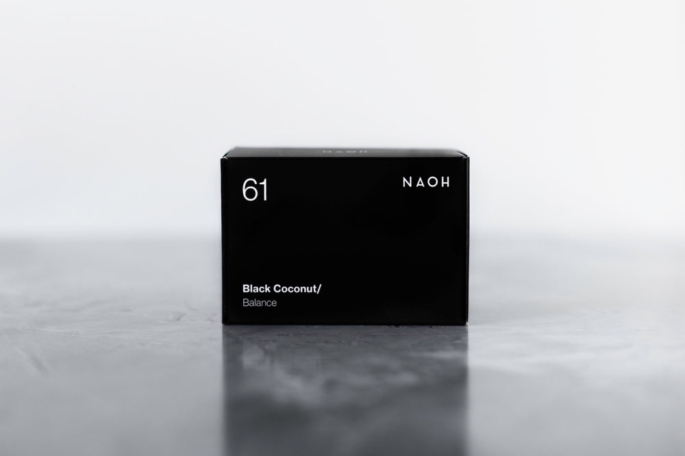 naoh soap bar black coconut