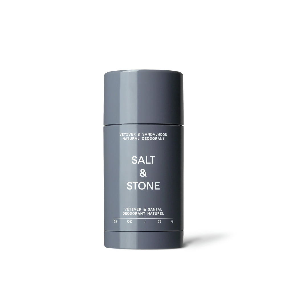 salt and stone natural deodorant vetiver and sandalwood