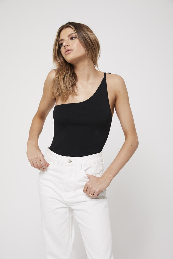 apparel by rozalia x atoir the one shoulder top black