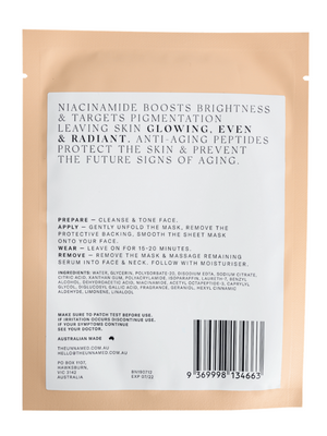 the unnamed brightening and anti-aging sheet mask