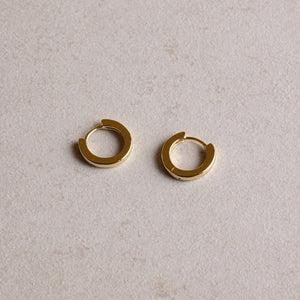 jl fine petite huggie sleeper earrings gold