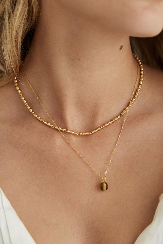 brie leon mini bambu necklace gold