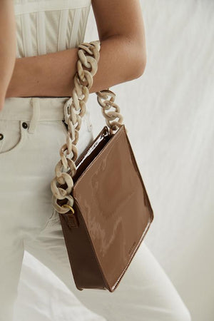 brie leon acetate chain strap cream mix