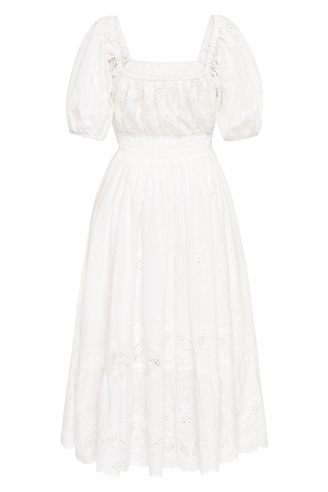 spell capulet broderie anglaise soiree dress white