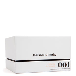 maison blanche cotton and chamomile deluxe candle