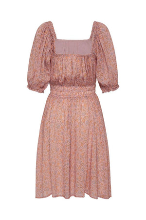 spell rae mini dress dusty pink