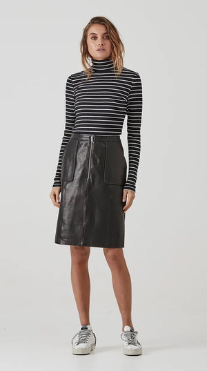 ena pelly gabrielle midi skirt black