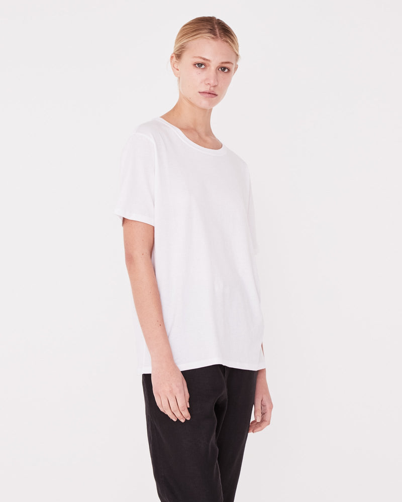assembly label essential crew tee white