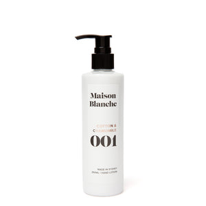 maison blanche cotton and chamomile hand lotion