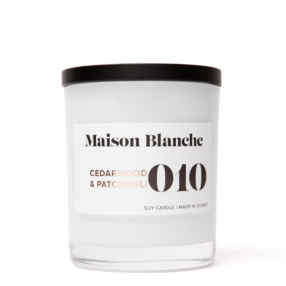 maison blanche cedarwood and patchouli candle large