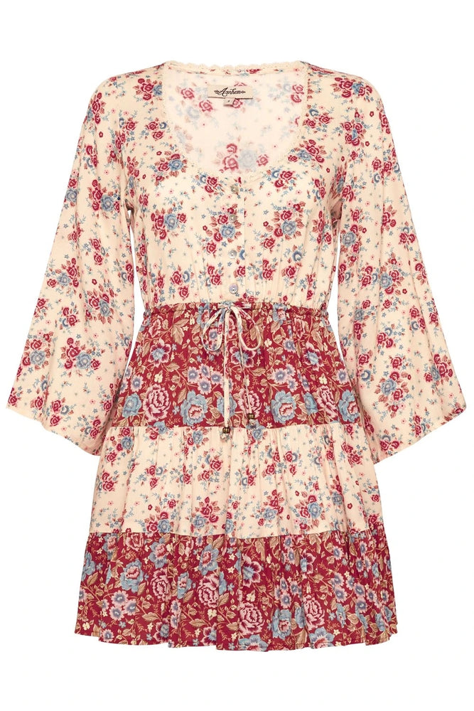 arnhem harmony mini dress strawberries and cream