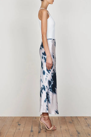 shona joy palmar bias midi skirt