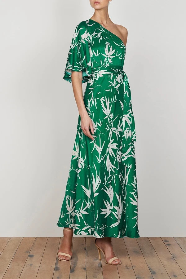 shona joy ellis one shoulder bias maxi dress