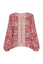 arnhem harmony blouse strawberries and cream