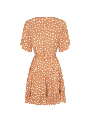 kivari nora polka mini dress