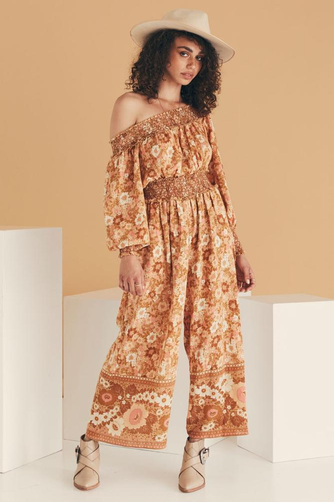 spell anne jumpsuit peach