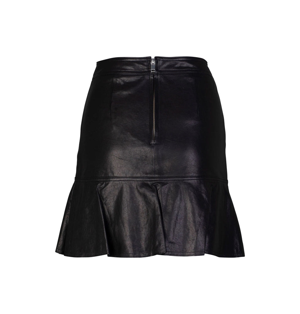 ena pelly ruffle skirt black