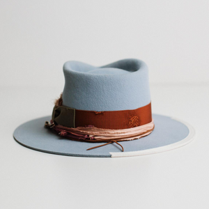 phylli strickland hat santa monica crystal blue
