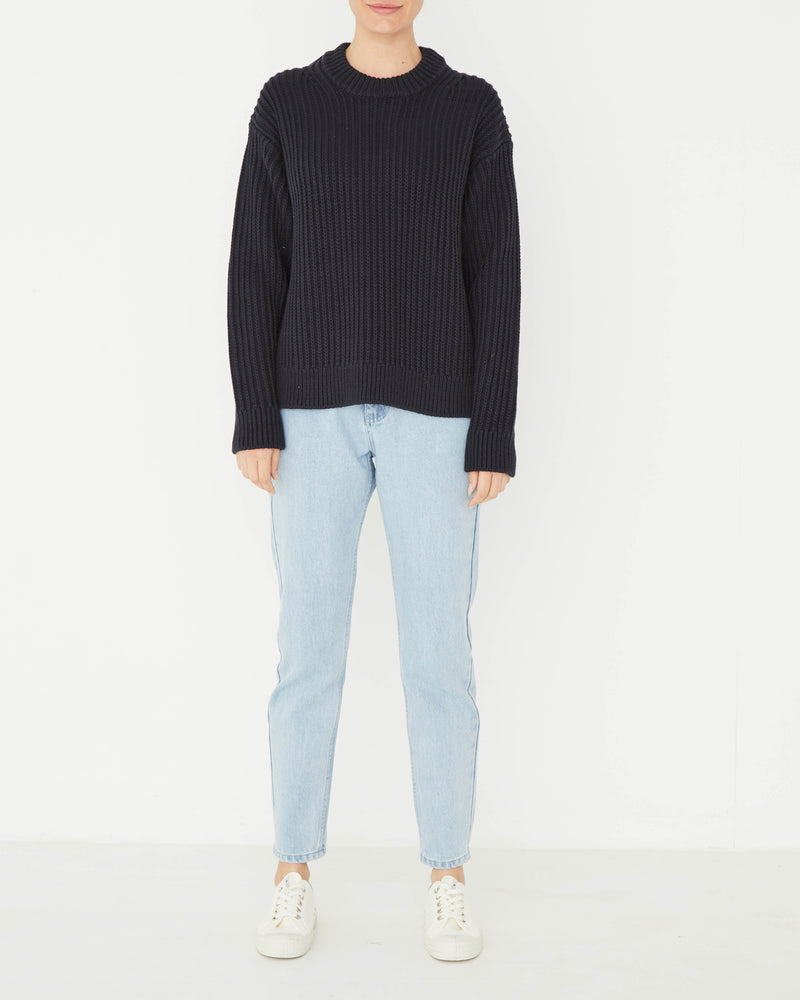 assembly label myla knit true navy
