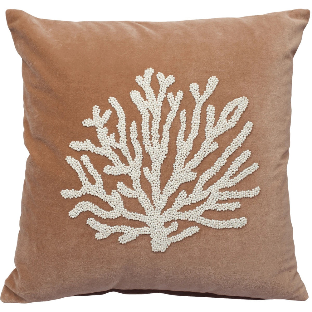 a la velvet cushion cover coral