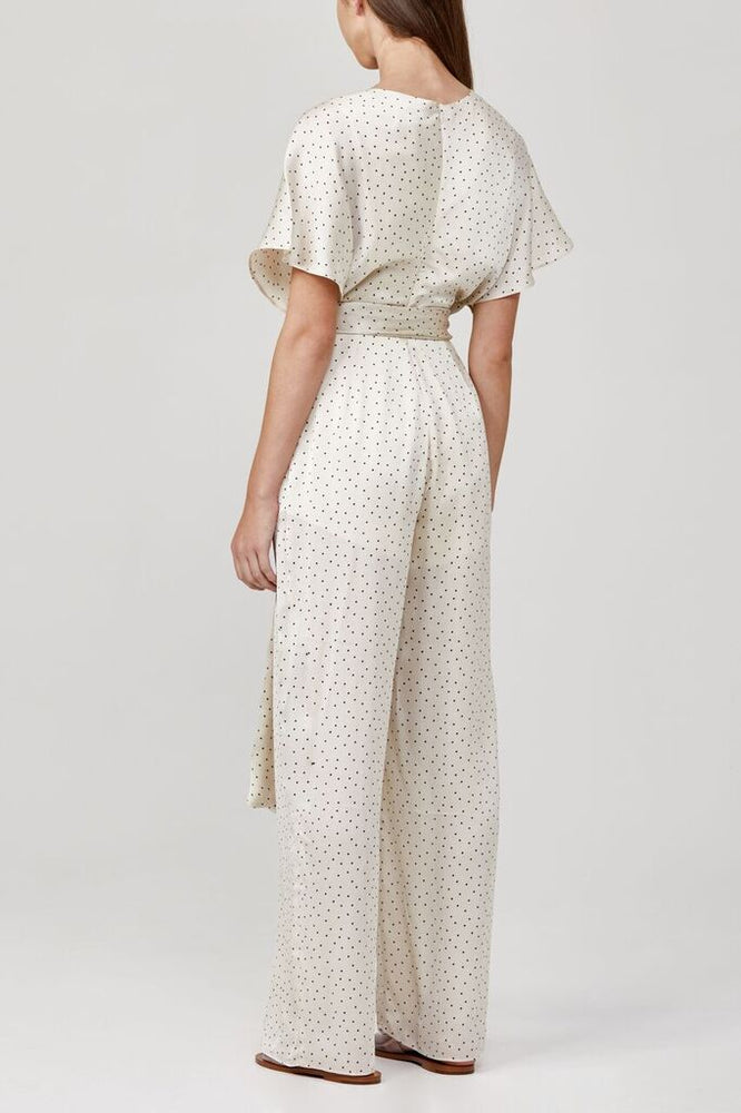 significant other aphelion jumpsuit cream polka