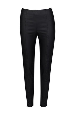 cable waxed legging black