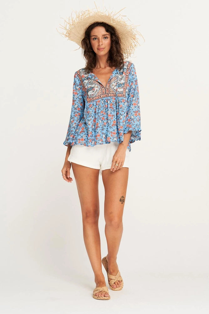 arnhem honey blouse poolside