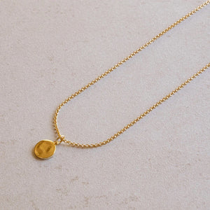 jl fine the sol pendant necklace gold