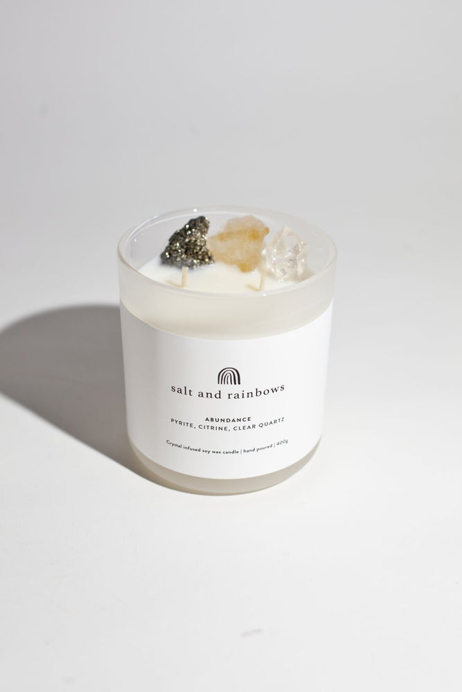 salt and rainbows abundance candle in wild lemongrass