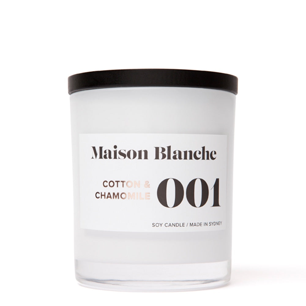 maison blanche cotton and chamomile candle large