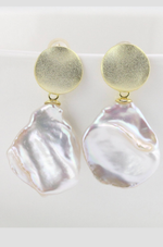 juan and me pearl drop earrings gold
