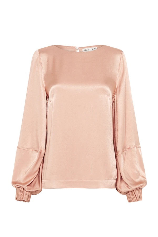 shona joy wright balloon sleeve top desert rose