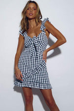 PRE-ORDER sndys croatia dress black gingham