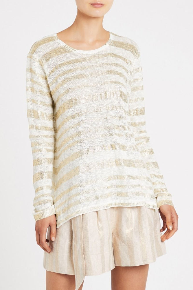 sass and bide on the line knit ivory gold