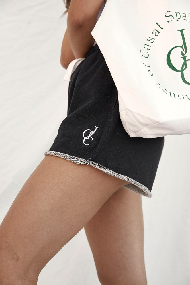 juanita shorts black with white embroidery