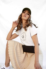 house of casal tee white marle with black